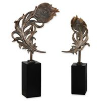 Uttermost Quill Feathers Sculptures in Bronze (Set of 2)