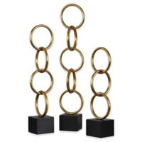 Uttermost Chane 3-Piece Sculptures Set in Gold