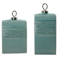 Uttermost Rewa Ceramic Containers in Green (Set of 2)
