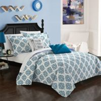 Chic Home Arvin 7-Piece Reversible Twin Quilt Set in Blue
