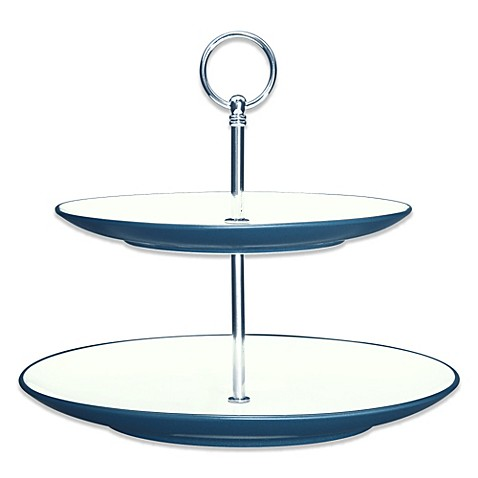 image of Noritake® Colorwave 2-Tier Hostess Tray in Blue