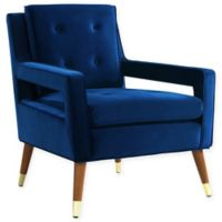 TOV Furniture Draper Velvet Chair in Navy