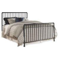 Hillsdale Furniture Brandi Queen Metal Bed in Navy