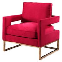 Abbyson Living Cromwell Velvet Armchair in Rose