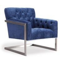 TOV Furniture Moya Velvet Chair in Navy