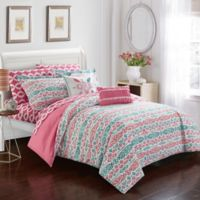 Chic Home Mahalia 7-Piece Twin Comforter Set in Aqua