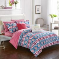 Chic Home Imelda 9-Piece Full Comforter Set in Fuchsia