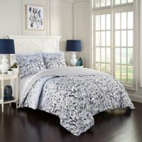 Marble Hill Danica Reversible King Comforter Set in River Blue