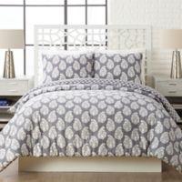 Vera Bradley® Shadow Full/Queen Comforter Set in White/Light Grey