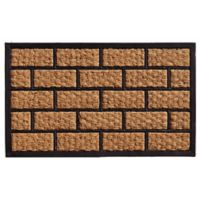 Home & More Brickmann 18-Inch x 30-Inch Door Mat in Natural/Black