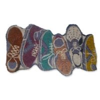 Nature by Geo Crafts Sneakers 18-Inch x 30-Inch Multicolor Door Mat