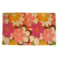 Nature by Geo Crafts Colorful Poppies 18-Inch x 30-Inch Multicolor Door Mat
