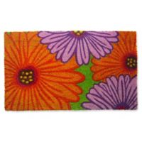 Nature by Geo Crafts Zinnia 18-Inch x 30-Inch Multicolor Door Mat