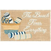 Nourison Beach Everything 1-Foot 8-Inch x 2-Foot 8-Inch Accent Rug in Beige
