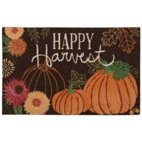 Nourison Happy Harvest 1-Foot 8-Inch x 2-Foot 6-Inch Accent Rug in Orange