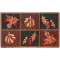 Nourison Harvest Grid 1-Foot 8-Inch x 2-Foot 6-Inch Accent Rug in Orange