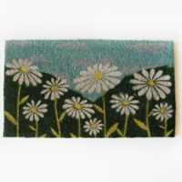 Nature by Geo Crafts Daisies 18-Inch x 30-Inch Door Mat in Multi
