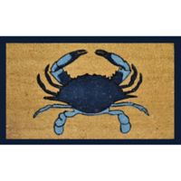 Nature by Geo Crafts Single Blue Crab 18-Inch x 30-Inch Multicolor Door Mat