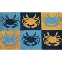 Nature by Geo Crafts Blue Crab 18-Inch x 30-Inch Multicolor Door Mat