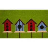 Nature by Geo Crafts Birdhouses 18-Inch x 30-Inch Multicolor Door Mat