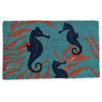 Nature by Geo Crafts Seahorses 18-Inch x 30-Inch Multicolor Door Mat