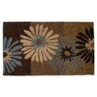 Nature by Geo Crafts Earthtone Floral Door Mat 18-Inch x 30-Inch Multicolor Door Mat