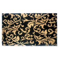 Nature by Geo Crafts Gold Scroll Leaves 30-Inch x 18-Inch Multicolor Door Mat