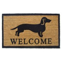 Nature by Geo Crafts One Dog Welcome 18-Inch x 30-Inch Multicolor Door Mat