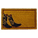 Nature by Geo Crafts Cowboy Boots 18-Inch x 30-Inch Multicolor Door Mat