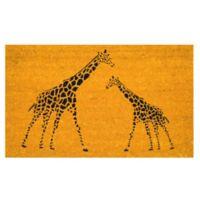 Nature by Geo Crafts Giraffes 18-Inch x 30-Inch Multicolor Door Mat