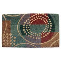 Geo Crafts by Nature Mardis Gras 18-Inch x 30-Inch Multicolor Door Mat