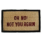 Nature by Geo Crafts Not You Again 18-Inch x 30-Inch Multicolor Door Mat