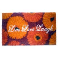 Nature by Geo Crafts Live Laugh Love 18-Inch x 30-Inch Multicolor Door Mat