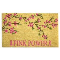 Nature by Geo Crafts Pink Power 18-Inch x 30-Inch Multicolor Door Mat