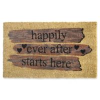 Nature by Geo Crafts Happily Ever After 18-Inch x 30-Inch Multicolor Door Mat