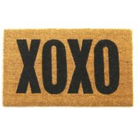 Nature by Geo Crafts XOXO 18-Inch x 30-Inch Multicolor Door Mat