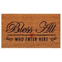 Home & More Bless All 17-Inch x 29-Inch Door Mat in Natural/Black