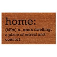 """Home & More """"Home"""" 17-Inch x 29-Inch Door Mat in Natural/Black"""