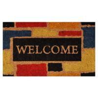 Nature by Geo Crafts Monty Welcome 29-Inch x 17-Inch Multicolor Door Mat