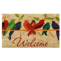 Home & More Tweet Welcome 29-Inch x 17-Inch Multicolor Door Mat