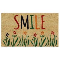 Home & More Smile 17-Inch x 29-Inch Multicolor Door Mat