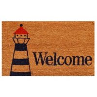 Home & More Lighthouse Welcome 17-Inch x 29-Inch Multicolor Door Mat