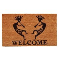 Home & More Trinidad Welcome 17-Inch x 29-Inch Door Mat in Black/Natural