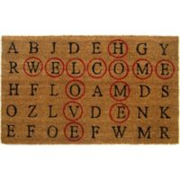 Nature by Geo Crafts Crossword 18-Inch x 30-Inch Multicolor Door Mat
