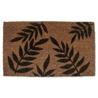 Nature by Geo Crafts Fern Leaves 18-Inch x 30-Inch Multicolor Door Mat
