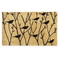 Nature by Geo Crafts Birds on Branches 18-Inch x 30-Inch Multicolor Door Mat