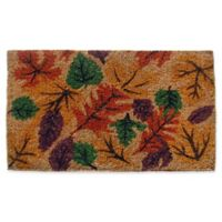 Nature by Geo Crafts Fall Foliage 18-Inch x 30-Inch Multicolor Door Mat
