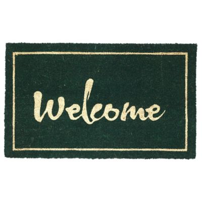 Fab Habitat Painted Welcome 18 Inch X 30 Inch Indoor/Outdoor Door Mat