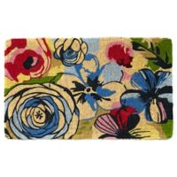 Fab Habitat Extra Thick Watercolor Floral 18-Inch x 30-Inch Door Mat