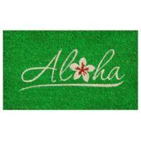 Home & More Aloha 17-Inch x 29-Inch Door Mat in Green